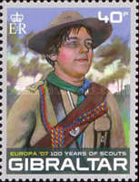 [EUROPA Stamps - The 100th Anniversary of Scouting, type AOI]