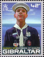 [EUROPA Stamps - The 100th Anniversary of Scouting, type AOJ]