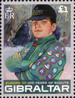 [EUROPA Stamps - The 100th Anniversary of Scouting, type AOK]