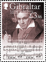 [The 250th Anniversary of the Birth of Ludwig van Beethoven, 1770-1827, Typ BPG]