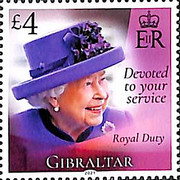 [The 95th Anniversary of the Birth of Her Royal Majesty Queen Elizabeth II, type BQO]