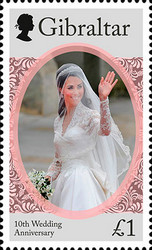 [The 10th Wedding Anniversary of Prince William and Kate Middleton, type BQP]