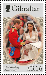 [The 10th Wedding Anniversary of Prince William and Kate Middleton, type BQR]