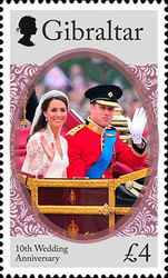 [The 10th Wedding Anniversary of Prince William and Kate Middleton, type BQS]