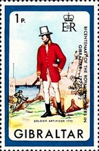 [The 200th Anniversary of the Royal Engineers in Gibraltar, type FR]