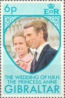[The Wedding of Princess Anne and Mark Phillips, type GJ]