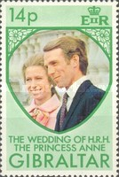 [The Wedding of Princess Anne and Mark Phillips, type GJ1]