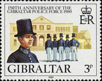 [The 150th Anniversary of the Gibraltar Police Force, type JT]