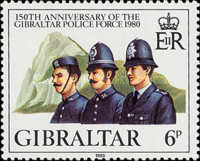 [The 150th Anniversary of the Gibraltar Police Force, type JU]