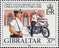 [The 150th Anniversary of the Gibraltar Police Force, type JW]