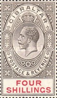 [King George V - Different Watermark, type K6]