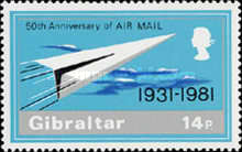 [The 50th Anniversary of Airmail, type KQ]