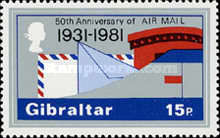 [The 50th Anniversary of Airmail, type KR]