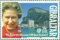 [The 40th Anniversary of the Crowning of Queen Elizabeth, type SP]