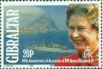 [The 40th Anniversary of the Crowning of Queen Elizabeth, type SQ]