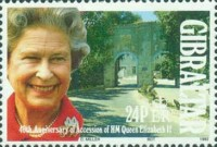 [The 40th Anniversary of the Crowning of Queen Elizabeth, type SR]