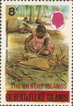 [Issues of 1971 of Gilbert and Ellice Islands Overprinted