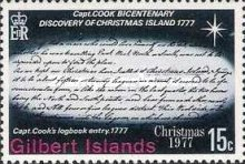 [Christmas and the 200th Anniversary of Captain Cook's Discovery of Christmas Islands, Typ AJ]
