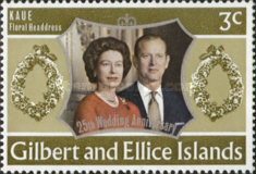[The 25th Anniversary of the Wedding of Queen Elizabeth II and Prince Philip, type FE]