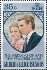 [The Royal Wedding of Princess Anne with Mark Phillips, type FN1]