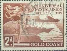 [The 75th Anniversary of Universal Postal Union, type AH]