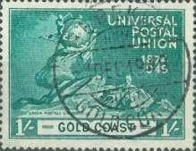 [The 75th Anniversary of Universal Postal Union, type AK]