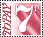 [Numeral Stamp, Typ D6]
