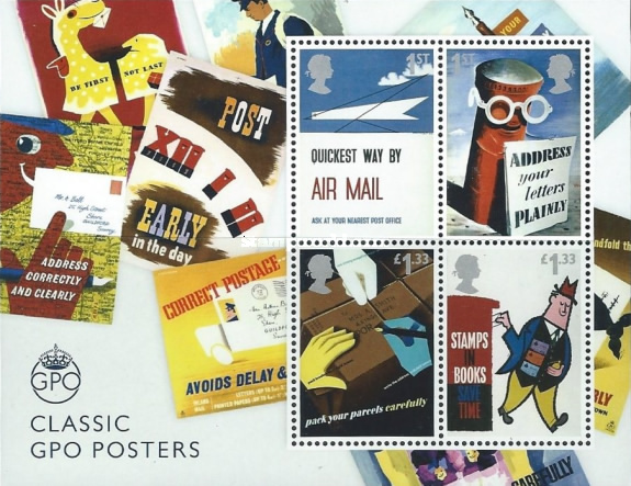 [The 500th Anniversary of the Royal Mail - Classic GPO Posters, Typ ]
