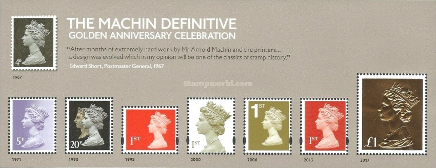 [Queen Elizabeth II - The 50th Anniversary of the Machin Definitive, Typ ]