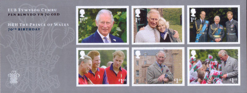 [The 70th Anniversary of the Birth of The Prince of Wales, type ]