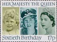 [The 60th Anniversary of the Birth of Queen Elizabeth II, Typ ABV]