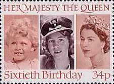 [The 60th Anniversary of the Birth of Queen Elizabeth II, Typ ABV1]