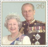 [The 50th Anniversary of the Wedding of Queen Elizabeth II and Prince Philip, Typ AXH]