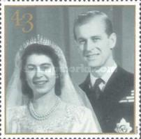 [The 50th Anniversary of the Wedding of Queen Elizabeth II and Prince Philip, Typ AXI]
