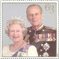 [The 50th Anniversary of the Wedding of Queen Elizabeth II and Prince Philip, Typ AXJ]