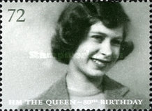 [The 80th Anniversary of the Birth of H.M. The Queen, Typ BTV]