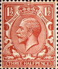 [King George V, 1865-1935 - New Watermark, Typ BX8]