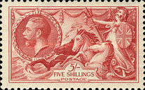 [King George V - No.141-143 With New Drawing, Typ CC11]