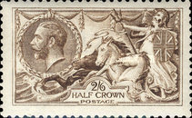 [King George V - No.141-143 With New Drawing, Typ CC7]