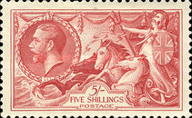 [King George V - No.141-143 With New Drawing, Typ CC8]