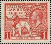 [The Re-opening of the British Exhibition in Wembley - Year 1925 on Stamp, type CE]