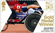[Paralympics Team GB Gold Medal Winners - Self Adhesive Stamps, Typ CXC]