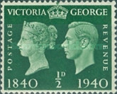 [Queen Victoria and King George VI, type CZ]