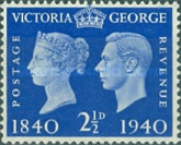 [Queen Victoria and King George VI, type CZ4]
