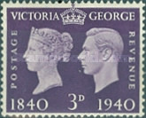 [Queen Victoria and King George VI, type CZ5]