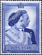 [The 25th Anniversary of the Wedding of King George and Queen Elizabeth, type DD]
