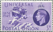 [The 75th Anniversary of the Universal Postal Union, type DL]