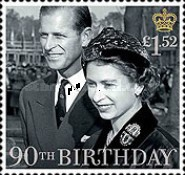 [The 90th Anniversary of the Birth of Queen Elizabeth II, Typ DMT]