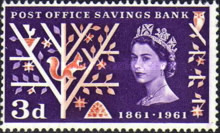 [The 100th Anniversary of the Post Office Savings Bank, type EQ]