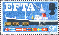 [Loading Plane from Trucks and Flags of EFTA Members, Typ HT]